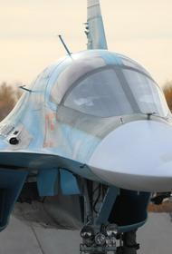 Фронтовые бомбардировщики Су-34 ЦВО уничтожили самолеты «противника» на учении под Курганом