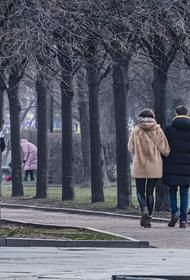 В Москве пошел мокрый снег