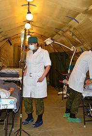 Военнослужащие РФ в кратчайшие сроки развернут мобильный госпиталь в Цхинвале