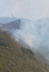 Пожар в Туапсинском районе тушат уже более ста человек