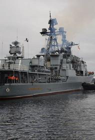 Противолодочный боевой корабль «Вице-адмирал Кулаков» прошел самую узкую часть пролива Ла-Манш