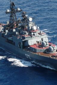 На Дальнем Востоке американский эсминец пытался нарушить границу РФ этому воспрепятствовал БПК «Адмирал Виноградов»