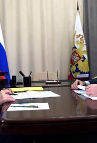 Песков объяснил, почему в Сарове Путин и участники встречи были без масок