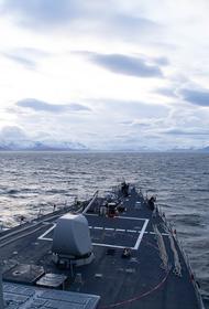 TГ-канал «Оперативная линия»: ракетный эсминец США целенаправленно вторгся в воды России напротив Калининграда