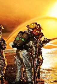 На северо-востоке столицы произошел пожар в металлическом ангаре