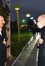 Эрдоган находился в Баку на военном параде в честь победы Азербайджана в Нагорном Карабахе