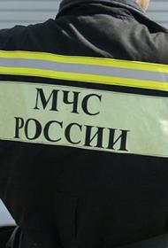 На Ленинградском проспекте в Москве загорелось административное здание на площади 300 кв.м.