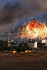 Сильный пожар возник на военном складе протурецких боевиков в Сирии