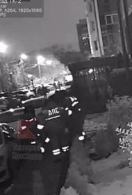 В сети появилось видео с задержанием грабителя в Краснодаре