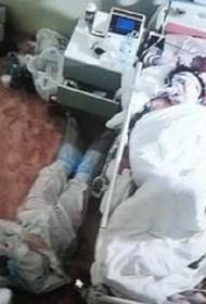 Названы имена медиков, которые провели ночь на полу у кровати пациентки с COVID-19