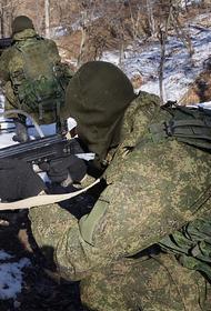 В Абхазии войсковая разведка ЮВО РФ отрабатывает разведывательно-диверсионные и противодиверсионные задачи на одном из полигонов