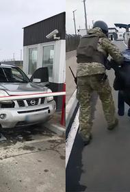 Украинец разбил машину при таране границы Крыма
