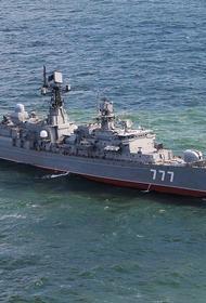 Фрегат «Ярослав Мудрый» провел учебно-боевые стрельбы в Балтийском море