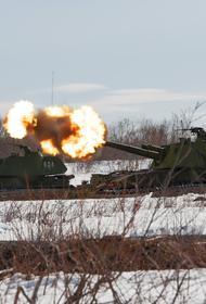 Артиллеристы общевойсковой армии ЗВО уничтожили штаб и технику условного противника
