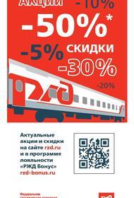 В феврале – марте на железнодорожной поездке можно съекономить треть стоимости