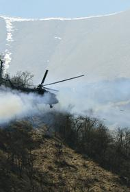 Вертолеты Ми-35М и Ми-8АМТШ провели успешный поиск баз вероятного противника в предгорьях Кавказа