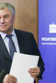 Володин заявил об эффективности смешанной системы выборов в Госдуму
