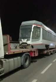 В Краснодар прибыл первый трамвай из партии нового года