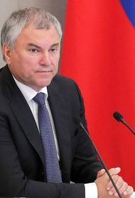 Володин предложил исключить господдержку офшорных компаний