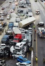 В США произошло ДТП с участием сотни автомобилей