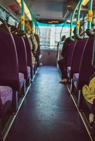 Автобус загорелся на севере Москвы