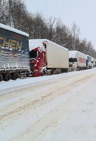 На границе с Украиной в Брянской области скопились примерно 150 грузовиков
