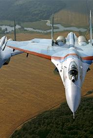 Истребители Су-27 перехватили французские самолеты над Черным морем