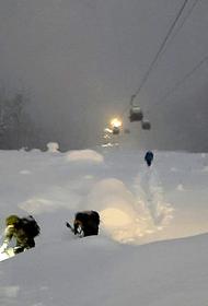В Красной Поляне заблудился лыжник, его спасли