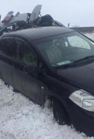 На Ставрополье грузовик врезался в патрульный автомобиль ДПС