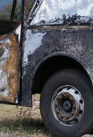 В Красноярском крае сгорел автобус, перевозивший вахтовиков