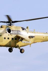 В Сирии российский военный вертолет совершил вынужденную посадку