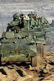 Артиллерия 58-й армии отработала задачи поддержки наступления мотострелков в горах