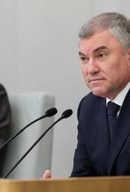 Володин призвал депутатов вовремя подать декларации о доходах