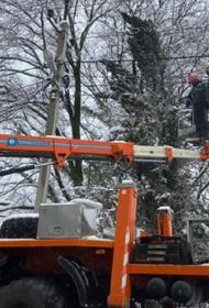 В Адыгее почти 30 тысяч жителей остались без света из-за мокрого снега
