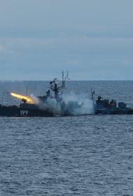 МПК «Брест» провел артиллерийские стрельбы в Баренцевом море