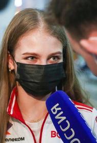 Фигуристов, вернувшихся с чемпионата мира из Стокгольма, встретили в московском аэропорту гимном РФ