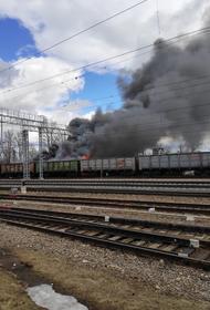 В Малоярославце Калужской области загорелась электричка