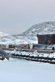 Строительство причального фронта подводных сил СФ в Гаджиево планируется завершить в сентябре
