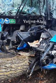 При аварии автобуса в Хабаровске пострадали три человека