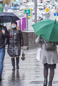 В понедельник в Москве ожидается небольшой дождь