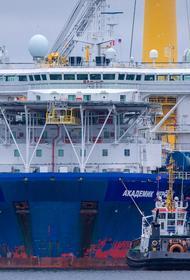 «Академик Черский» приступил к укладке труб «Северного потока – 2» в водах Дании