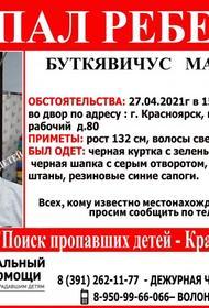 В Красноярске пропал восьмилетний мальчик Марк Буткявичус