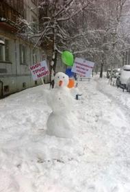На Южно-Сахалинск 1 мая обрушился снегопад