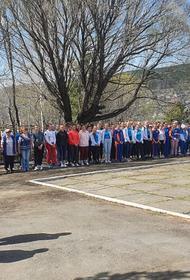 Ватерпольная команда из Златоуста проводит акции в честь 9 Мая