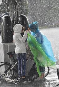 Ливень и порывистый ветер обрушились на Москву