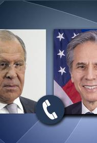 Глава МИД РФ Лавров и госсекретарь Блинкен обсудили организацию встречи президентов России и США Путина и Байдена