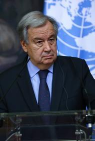 Генсек ООН призвал Израиль и Палестину к переговорам