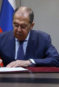 Лавров и Блинкен затронули «тему дипломатических «присутствий» России в США и США в России»