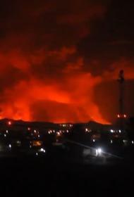 В Африке началось извержение крупного вулкана— Ньирагонго