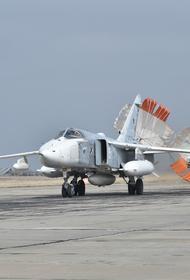 В Крыму Су-30СМ и Су-24М морской авиации Черноморского флота выполнили учебно-боевые полёты